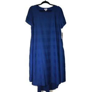 Blue Pintuck Carly Dress 2X NWT LuLaRoe Royal Blue
